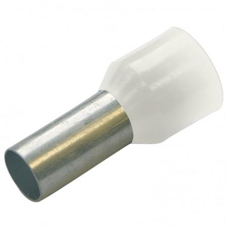 Haupa 270800 HTI - 0,5/8 końc. tulejkowa izol białe