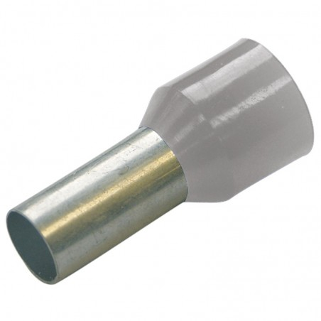 Haupa 270803 HTI - 0,75/8 końc. tulejkowa izol szare