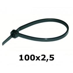 HOK 100x 2,5 mm opaska kablowa UV czarna*
