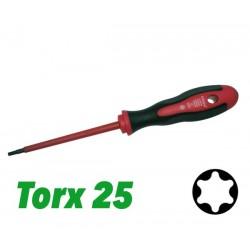 Śrubokręt 2 K VDE z prowadnicą TX 25