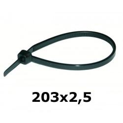 HOK 203 x 2,5 mm opaska kablowa UV czarna*